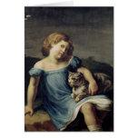Retrato de Louise Vernet como niño, 1818-19 Felicitación