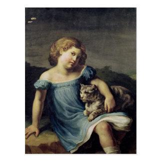 Retrato de Louise Vernet como niño 1818-19 Postal