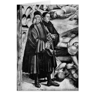 Retrato de Luca Signorelli y de Fra Angelico Tarjeton