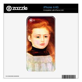 Retrato de Lucie Berard de Pedro Renoir iPhone 4 Skins