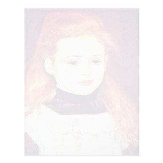 Retrato de Lucie Berard (niña con un blanco Membretes Personalizados