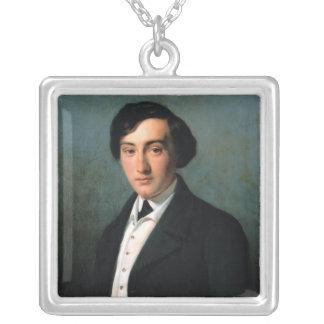 Retrato de Lucien Petipa 1849 Colgante Cuadrado