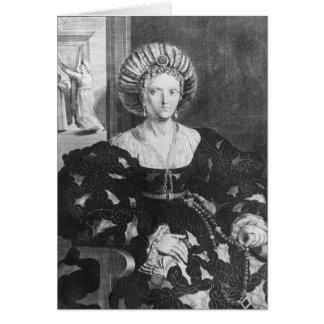 Retrato de Lucrezia Borgia Tarjeta De Felicitación