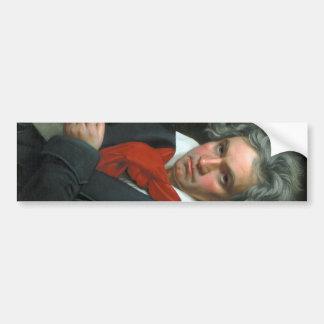 Retrato de Ludwig van Beethoven Pegatina Para Auto