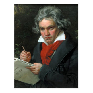 Retrato de Ludwig van Beethoven Postales