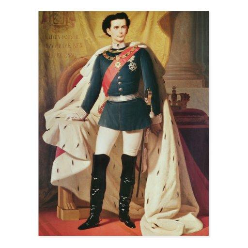 Retrato de Luis II de Baviera en uniforme Postal