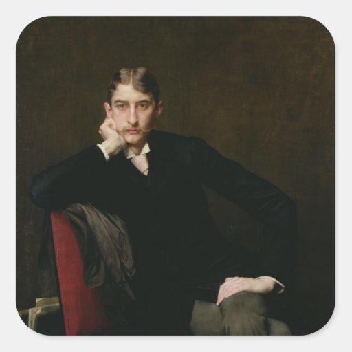 Retrato de M. Fitzgerald, 1889 Pegatina Cuadrada