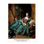 Retrato de Madame de Pompadour de Francois Boucher Tarjetas Postales