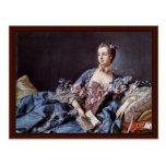 Retrato de Madame de Pompadour Postal