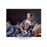 Retrato de Madame de Pompadour Postales