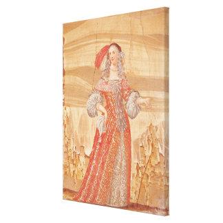 Retrato de Madeleine Bejart en papel de Lona Envuelta Para Galerías