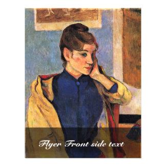 Retrato de Madeleine Bernard de Gauguin Paul Tarjetones
