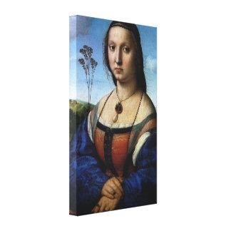 Retrato de Magdalena Doni por Raphael o Raffaello Lienzo Envuelto Para Galerías