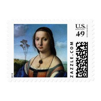 Retrato de Magdalena Doni por Raphael o Raffaello Franqueo