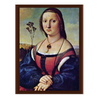 Retrato de Magdalena Strozzi llevado Doni de Raffa Tarjeta Postal
