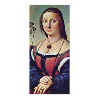 Retrato de Magdalena Strozzi llevado Doni de Raffa Tarjeta Publicitaria Personalizada