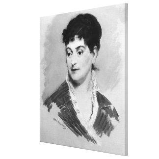 Retrato de Manet el | de señora Emile Zola, 1874 Impresión En Lienzo