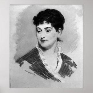Retrato de Manet el | de señora Emile Zola, 1874 Póster