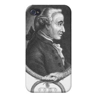 Retrato de Manuel Kant 2 iPhone 4/4S Carcasas