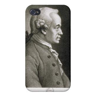 Retrato de Manuel Kant, filósofo alemán iPhone 4 Protectores
