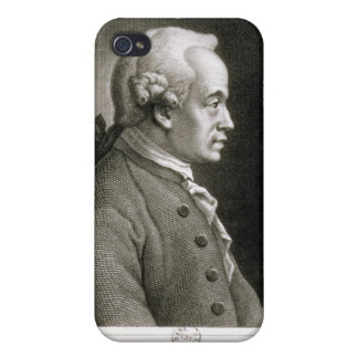 Retrato de Manuel Kant, filósofo alemán iPhone 4 Fundas
