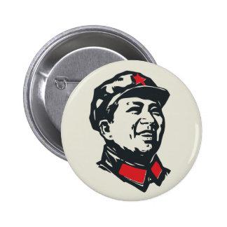 Retrato de Mao del presidente Pin Redondo De 2 Pulgadas
