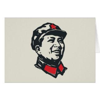 Retrato de Mao del presidente Tarjeton