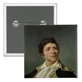 Retrato de Marat 1793 Pin Cuadrado