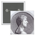 Retrato de Marco Aurelius Pin Cuadrada 5 Cm