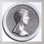 Retrato de Marco Aurelius Póster