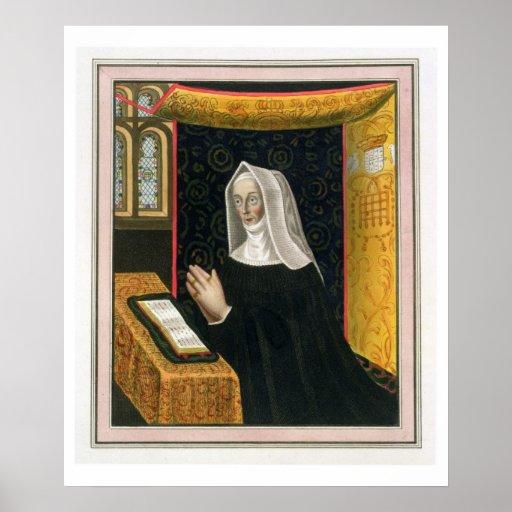 Retrato de Margaret Beaufort, condesa de Richmon Poster