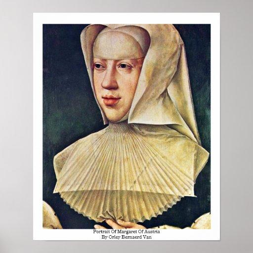 Retrato de Margaret de Austria Póster
