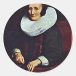 Retrato de Margaretha De Geer, esposa del viaje de Pegatina Redonda
