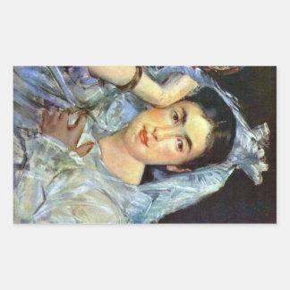 Retrato de Marguerite de Conflans por Manet Pegatinas