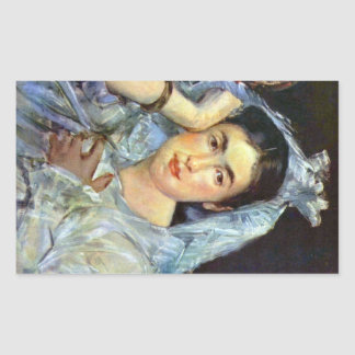 Retrato de Marguerite de Conflans por Manet Pegatina
