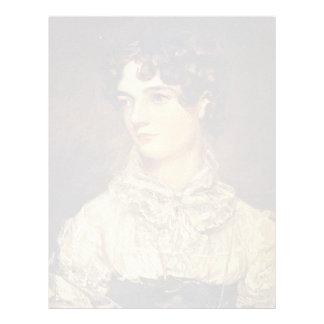 Retrato de Maria Bicknell, por el policía Juan (se Membrete Personalizado