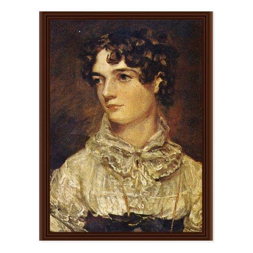 Retrato de Maria Bicknell, por el policía Juan (se Tarjetas Postales