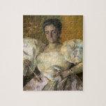 Retrato de Maria Cassatt- de señora H.O. Hevemeyer Puzzle Con Fotos