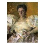 Retrato de Maria Cassatt- de señora H.O. Hevemeyer Tarjeta Postal