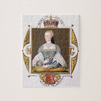 Retrato de Maria de 1515-60) reinas del modo (de S Rompecabeza