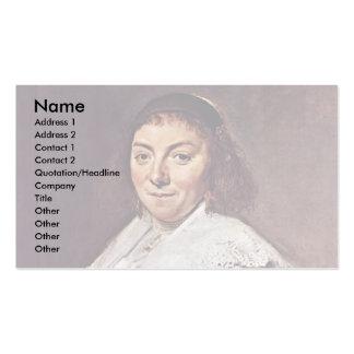 Retrato de Maria Pietersdr. Olycan de Hals Francis Tarjeta De Negocio