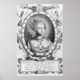 Retrato de Maria Sidney, condesa del Pembroke Póster