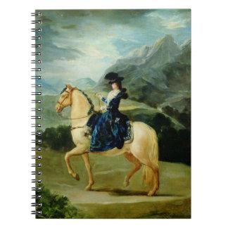 Retrato de Maria Teresa de Vallabriga en horsebac Cuadernos