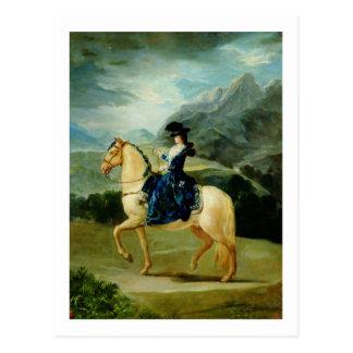Retrato de Maria Teresa de Vallabriga en horsebac Tarjetas Postales