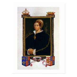 Retrato de Maria Tudor, de las 'memorias de la cor Postal