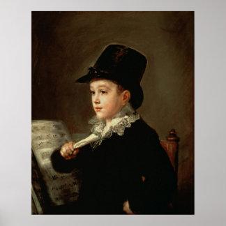 Retrato de Marianito Goya Póster