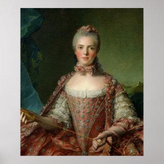 Retrato de Marie Adelaide 1756 Posters