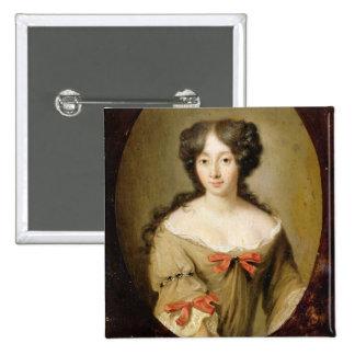Retrato de Marie-Anne Mancini (1646-1714) c.1670 Pin Cuadrada 5 Cm