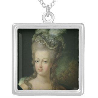 Retrato de Marie-Antonieta Collar Plateado
