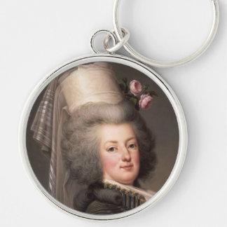 Retrato de Marie Antonieta, reina de Francia Llavero Redondo Plateado